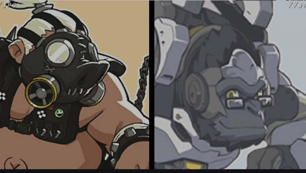 Roadhog and Winston